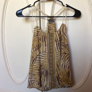 EUC: Urban Outfitters palm racerback summer tank